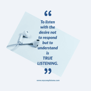 How to listen actively