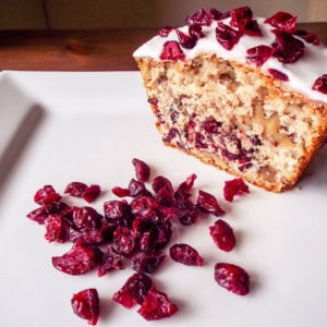 Cranberry & Walnut Cake - Easy cake recipe with cranberries and walnut. This is very easy to make and is very tasty   AmateurChef.co.uk