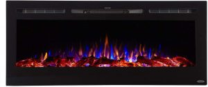 Touchstone Sideline Recessed Mounted Electric Fireplace