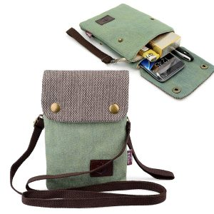 Gcepls Canvas Mini Catchy Crosswise Wallet