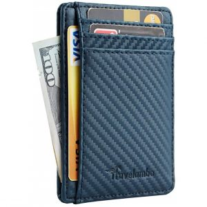 Travelambo Front Pocket Minimalist Leather Wallet