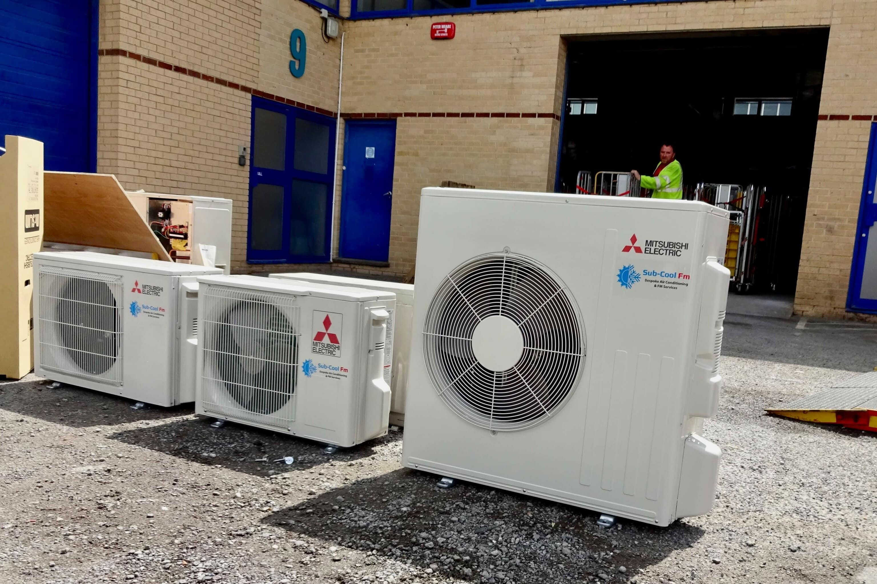 Brand new Mitsubishi air conditioning units