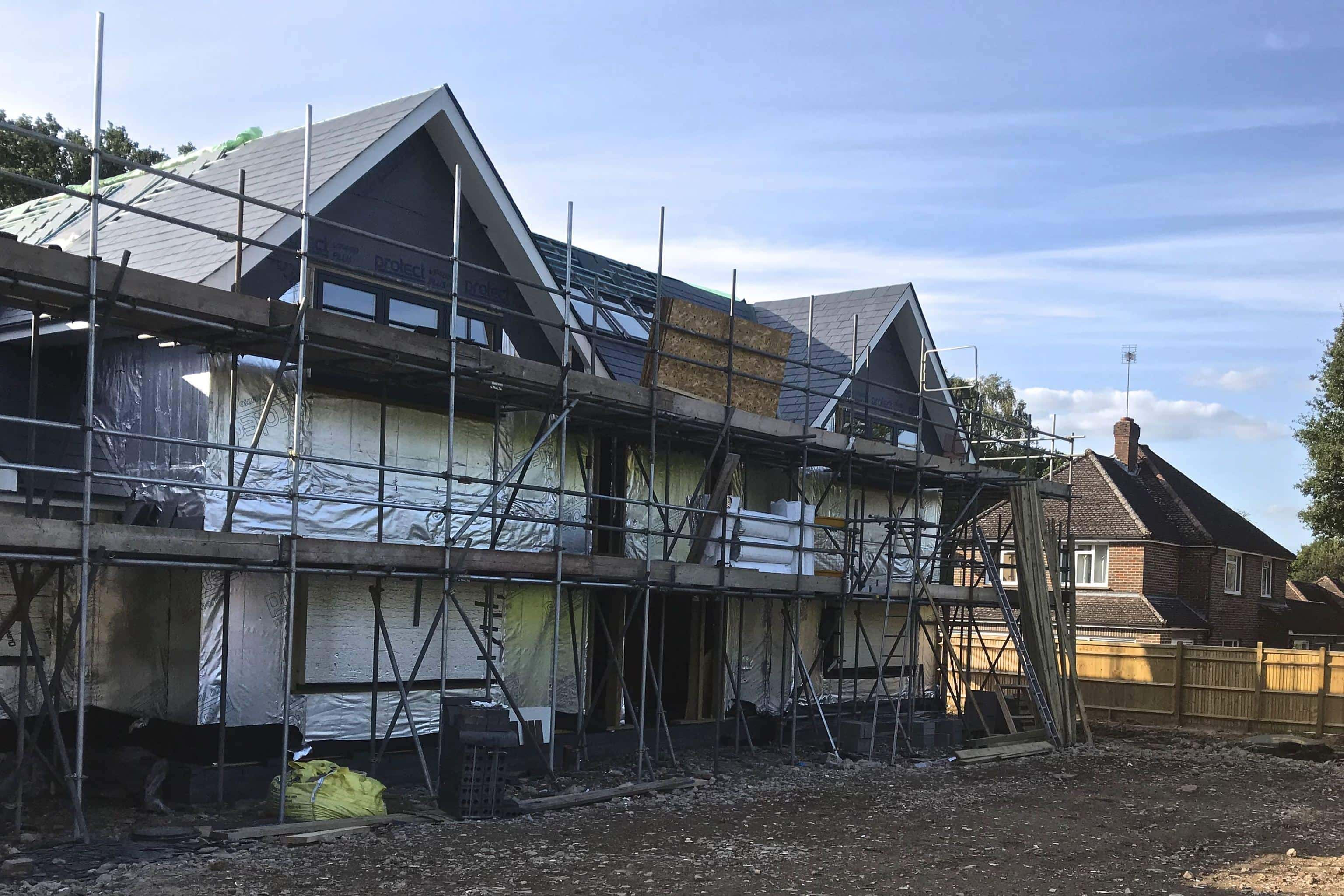 New build house for air con fitting