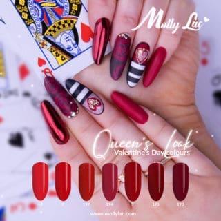 walentynki z lakierami do paznokci firmy Molly Lac