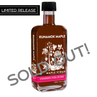 Strawberry Rose Infused Maple Syrup by Runamok Sold Out
