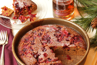 Cranberry Maple Gingerbread