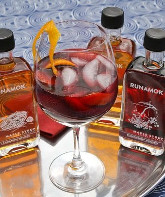 Maple syrup Sangria by Runamok Maple