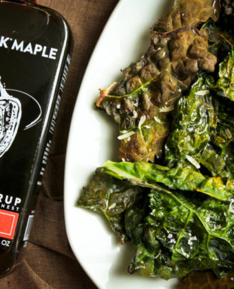 Spicy Maple Kale Chips by Runamok Maple