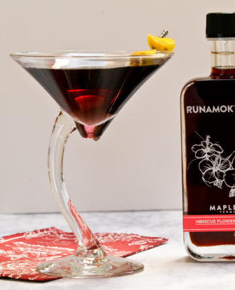 Hibiscus maple cocktails by Runamok Maple