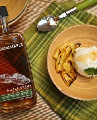 Coconut ice cream and maple syrup by Runamok Maple