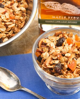 Granola and maple syrup by Runamok Maple