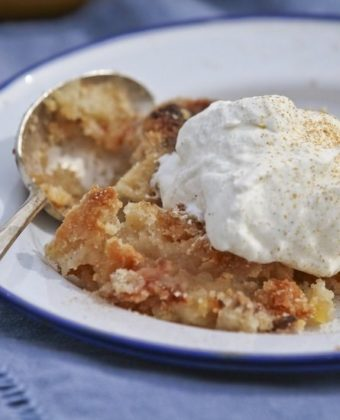 Apple Crisp and maple syrup by Runamok Maple