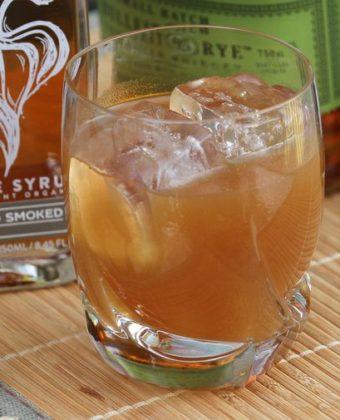 smokesmoked maple syrup cocktail by Runamok Maple