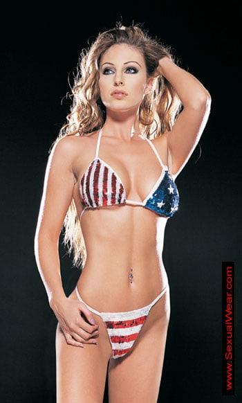 4th of July bikini girl
