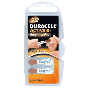 Duracell Activair Size 312 Hearing Aid Batteries