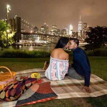 picnic proposal in Brooklyn bridge Park