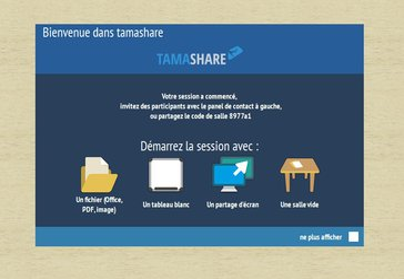 démarrer la réunion sur Tamashare avec écran interactif