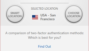 Easy location selection with ExpressVPN.