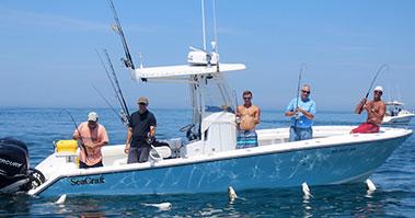 Multiple Fishermen on Boat