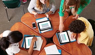 écran tactile avec hotspot pour classe tablettes