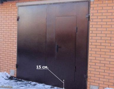 Ворота гаражные металлические