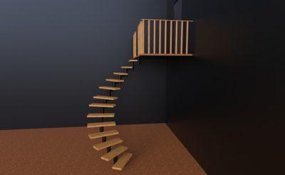 Винтовая лестница сборная купить