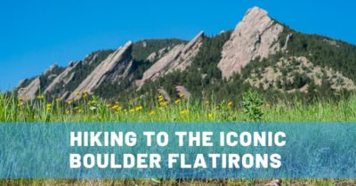 Hiking to the Iconic Boulder Flatirons in Colorado
