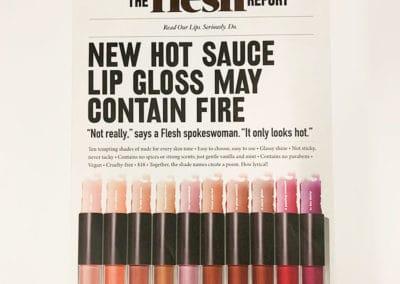 Newsprint piece for Flesh