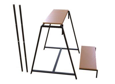 Конструкция стол-стеллаж