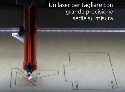 Un laser per tagliare con grande precisione sedie su misura
