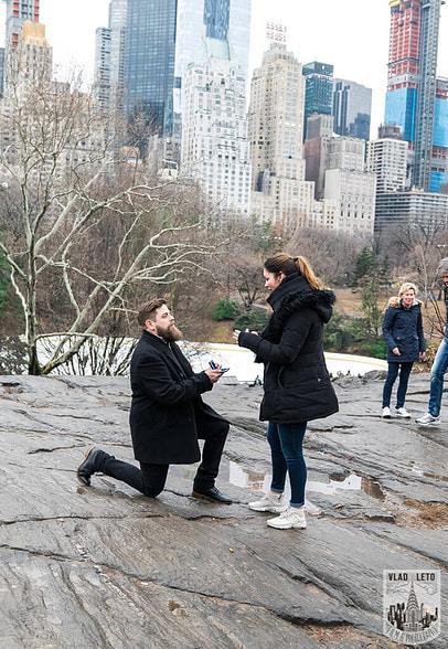 Photo 2 Cats Rock Proposal in Central Park | VladLeto