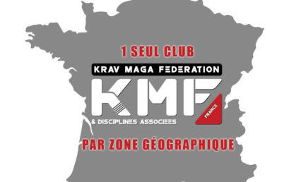 1 SEUL CLUB PAR ZONE GÉOGRAPHIQUE POUR LA KMFDA
