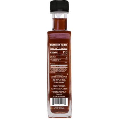 Strawberry Rose Infused Maple Syrup by Runamok Maple