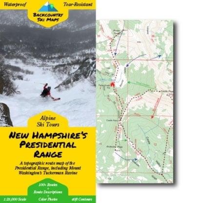 presidential range ski touring map