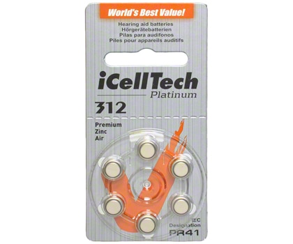 iCellTech Size 312 Hearing Aid Batteries