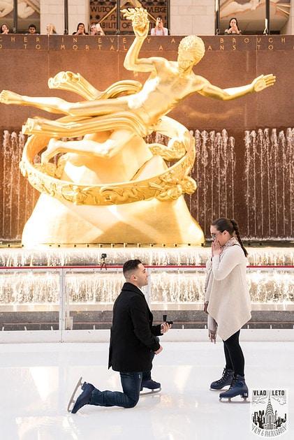 Photo 2 Proposal at the Rink at Rockefeller Center | VladLeto