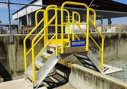 Metal Crossover Stair Outdoors