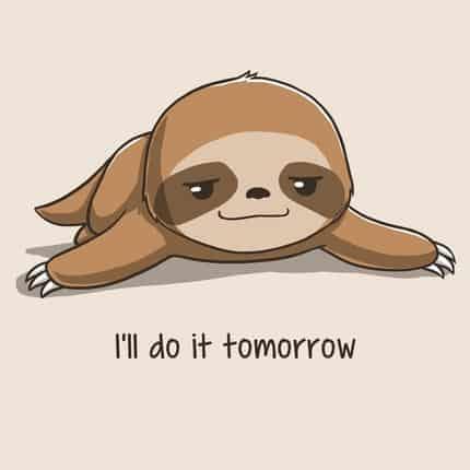 procrastination badger