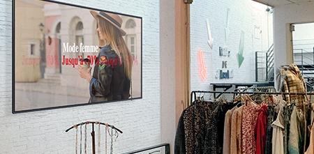 moniteur écran d'affichage android entreprise borne digital