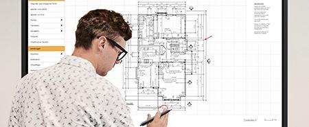 écran interactif technologie haute précision