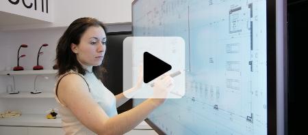 écran interactif haute précision travail collaboratif