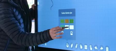 mise en service installation écran interactif