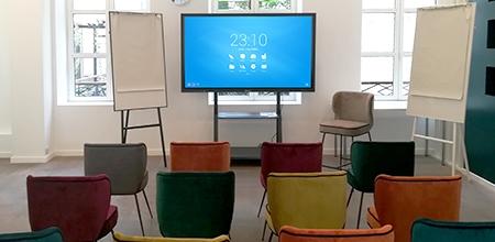 showroom Paris Speechi écran interactif solutions collaboratives