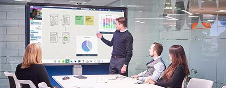 tableau blanc depuis écran tactile numérique pour annoter ses idées et collaborer
