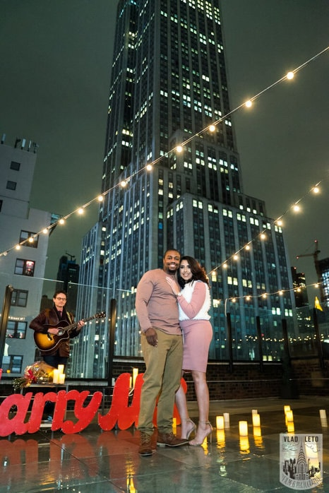 Photo 4 Rooftop Proposal with Empire State view | VladLeto