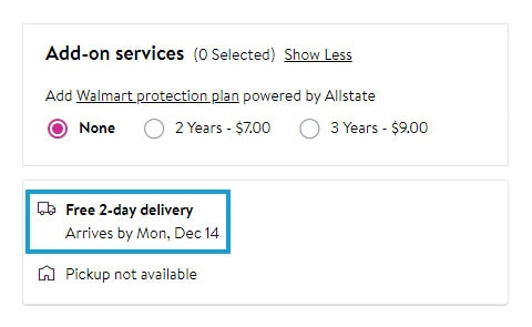 Walmart Free 2-Day Delivery