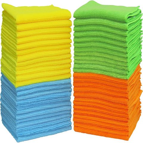 Simple Houseware Microfiber Cleaning Cloth (Pack of 50)