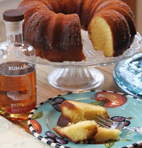 Maple rum cake baked with Runamok Sugarmaker's Cut maple syrup