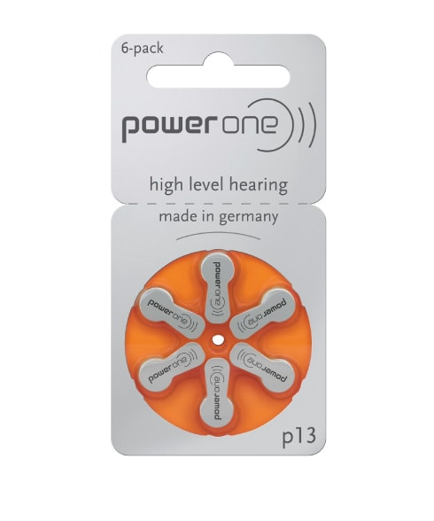 Power One Size 13 Hearing Aid Batteries