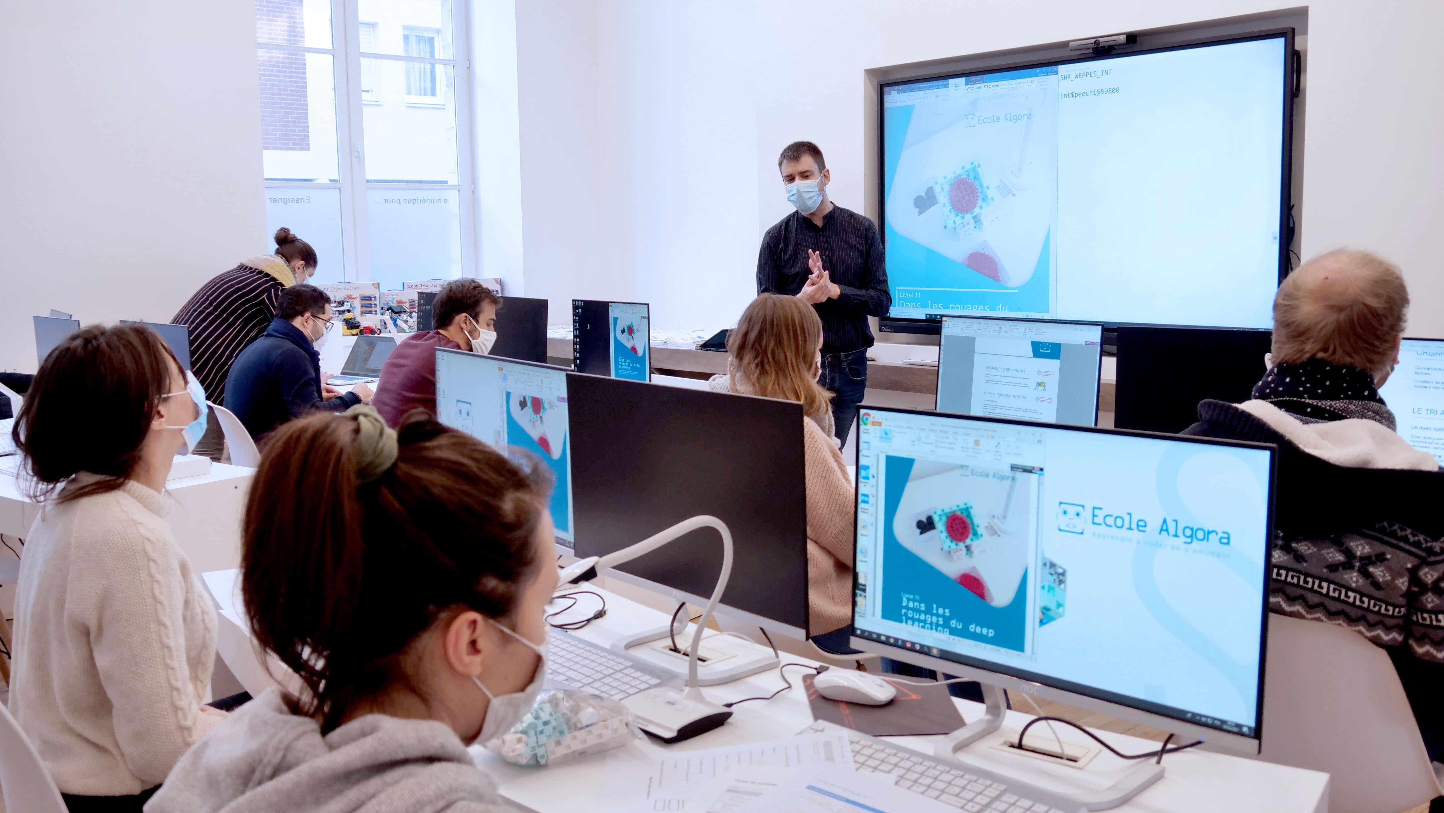 cours de programmation avec visualiseur